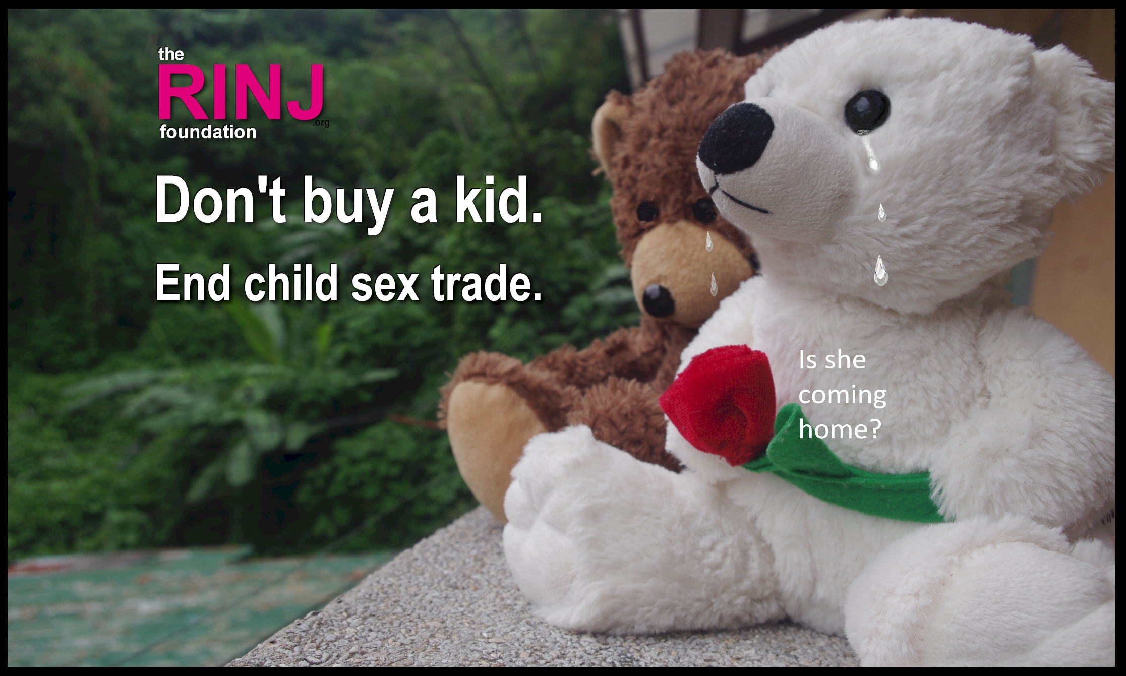 Don't buy a kid. End child sex trade. @rapeisnojoke 2016 - 4th Annual Campaign #DontBuyAKid