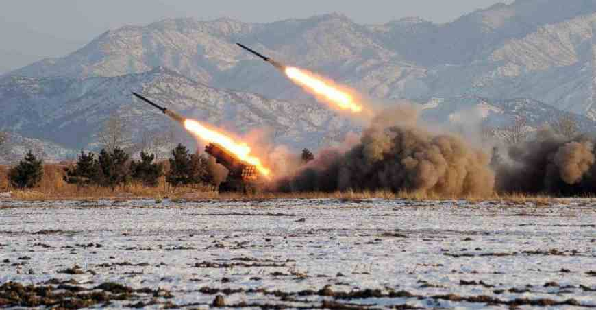 DPRK Artillery Rockets are aimmed at Soth Korean cities