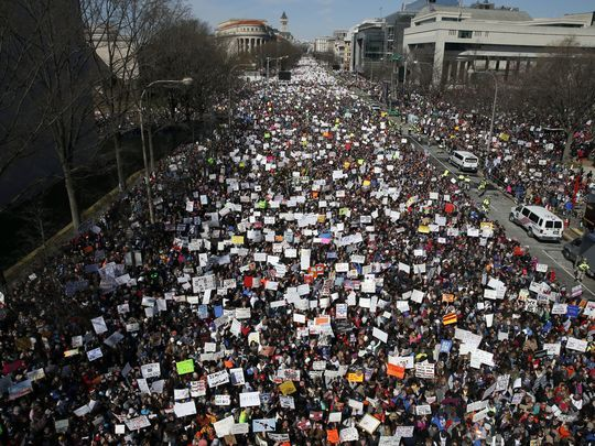 March For Our Lives Pennsylvania Ave March 24 2018 in Washington Photo: Alex Brandon AP