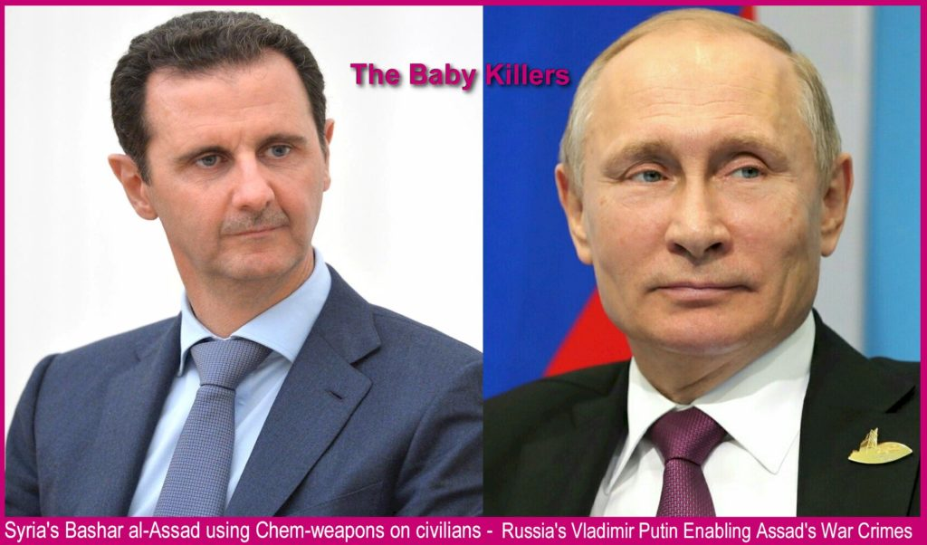 The Baby Killers - Vladimir Putin and Bashar al-Assad
