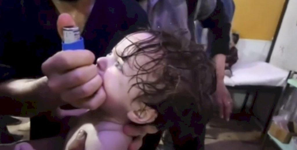 Chemical Warfare atatck on children and their faamilies done by Assad