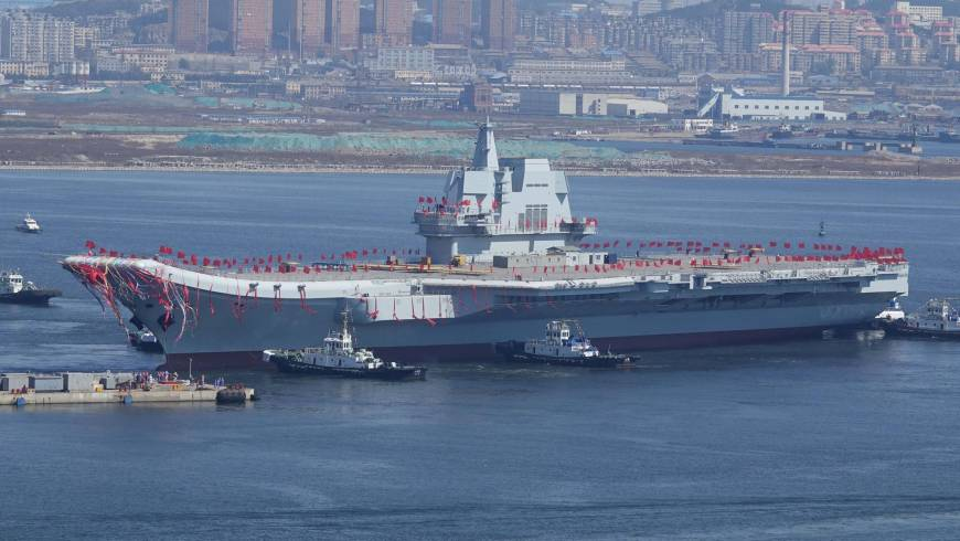 China Launches New Aircraft Carrier