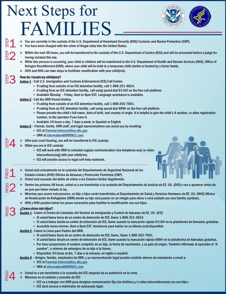 Handout from Homeland Security