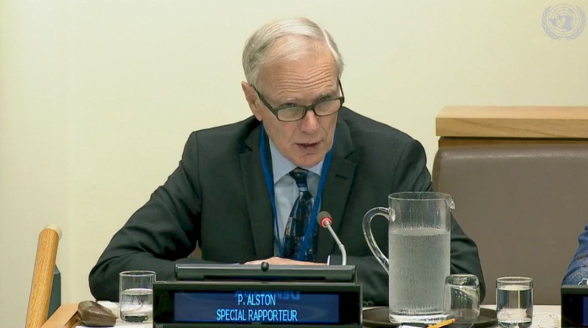 Philip Alston (Special Rapporteur Extreme Poverty and Human Rights) at the Third Committee, 28th meeting - General Assembly, 72nd session