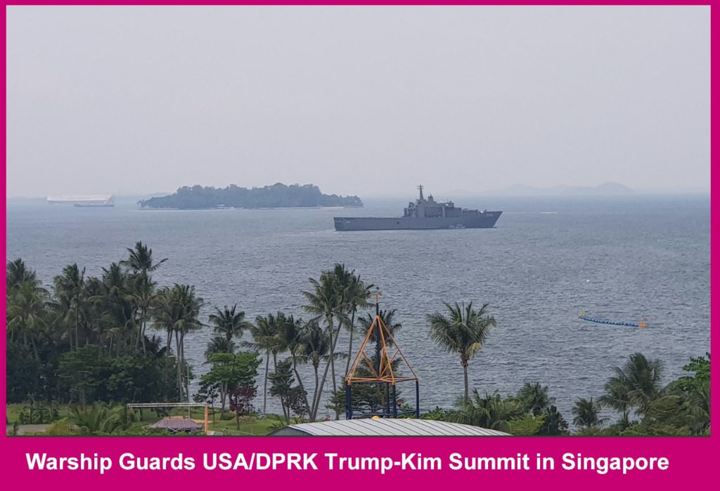 Warships guard Singapore Summit