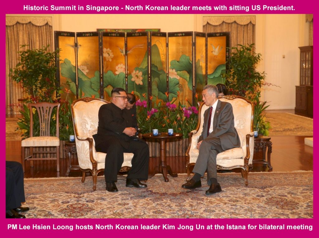 PM Lee Hsien Loong hosts North Korean leader Kim Jong Un at the Istana for bilateral meeting