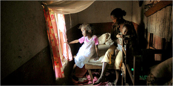 Menja, a five-year-old girl from Madagascar, was molested by her father's brother.