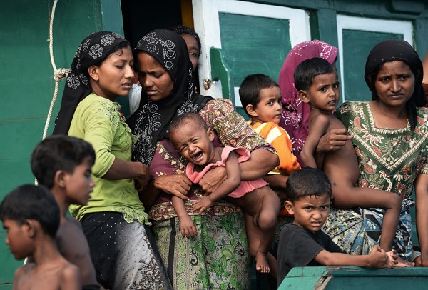 Rohingya women and children. Survivors.