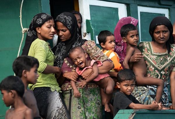 Rohingya women and children. Survivors.