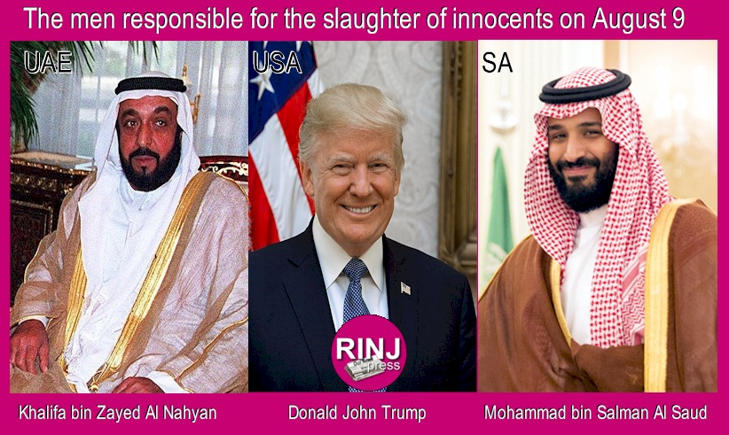These men are responsible for the slaughter of dozens of children in Yemen.