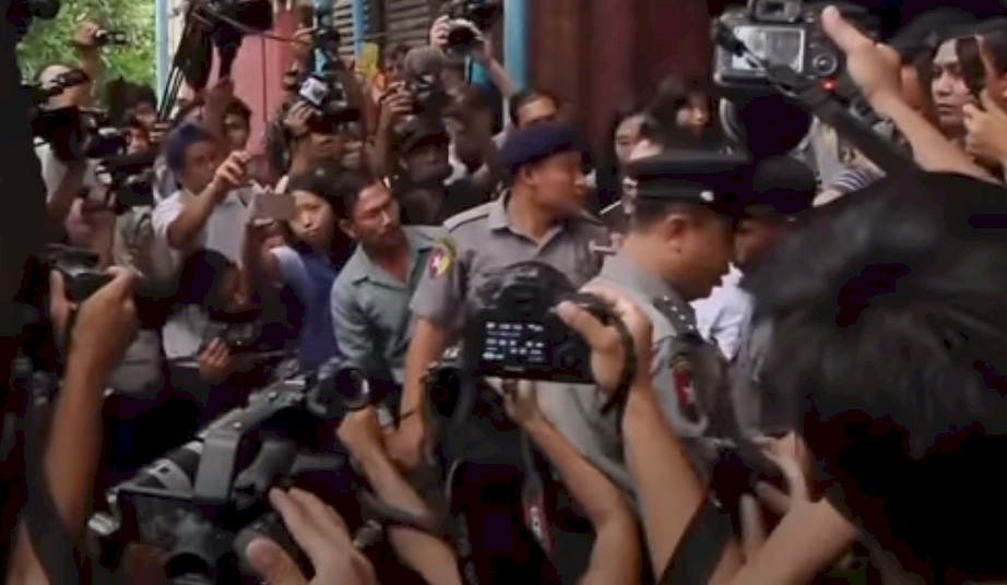 Wa Lone, 32, and Kyaw Soe Oo, 28, were being held in prison in Yangon after being arrested in December 2017