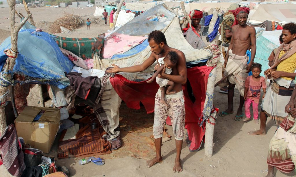 camp near Aden, Yemen, on 27 May. Photograph: Fawaz Salman/Reuters