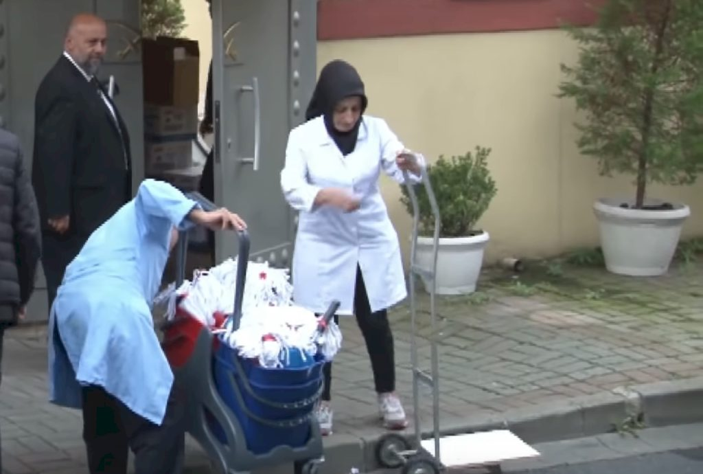 cleaning crew entering the Saudi consulate in Istanbul hours before an expected Turkish inspection of the building. All a full two weeks since Jamal Khashoggi disappeared.
