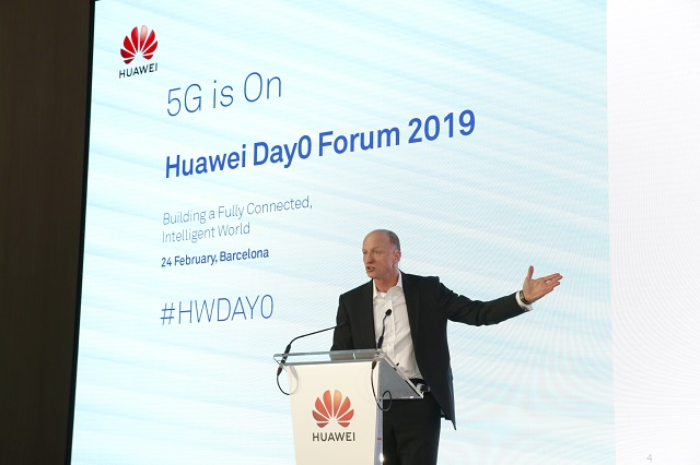 Sunrise CEO Olaf Swantee said in an interview with the media that Sunrise 5G is progressing smoothly and is the first 5G pioneer in Switzerland. 5G network will be launched soon in March this year, covering more than 150 towns cities/villages across Switzerland. - Photo Credit: Huawei
