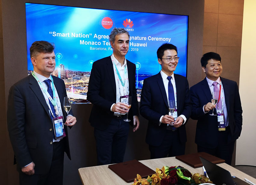 Monaco Telecom and Huawei sign MoU