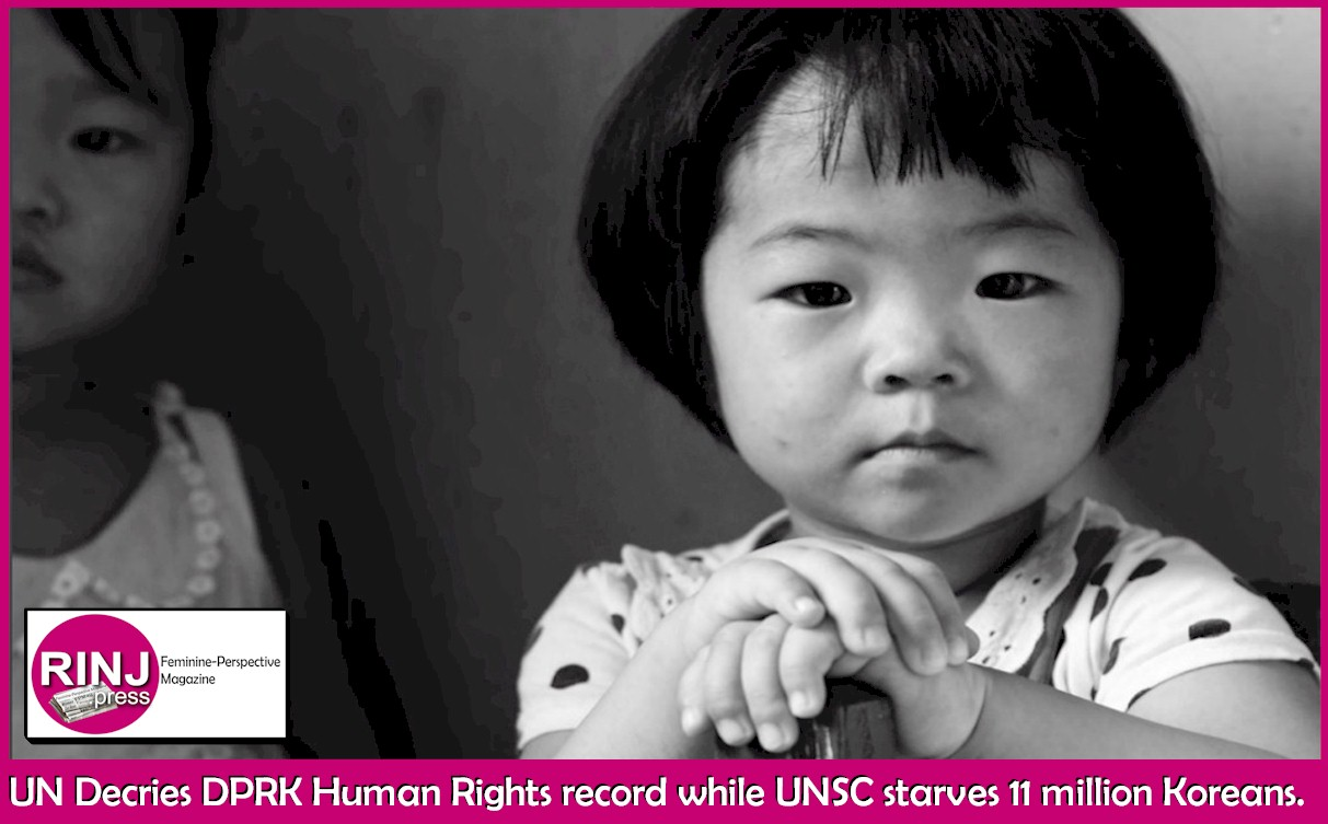 UN Decries DPRK Human Rights record while UNSC starves 11 million Koreans. Photo Credit: UN Report Cover