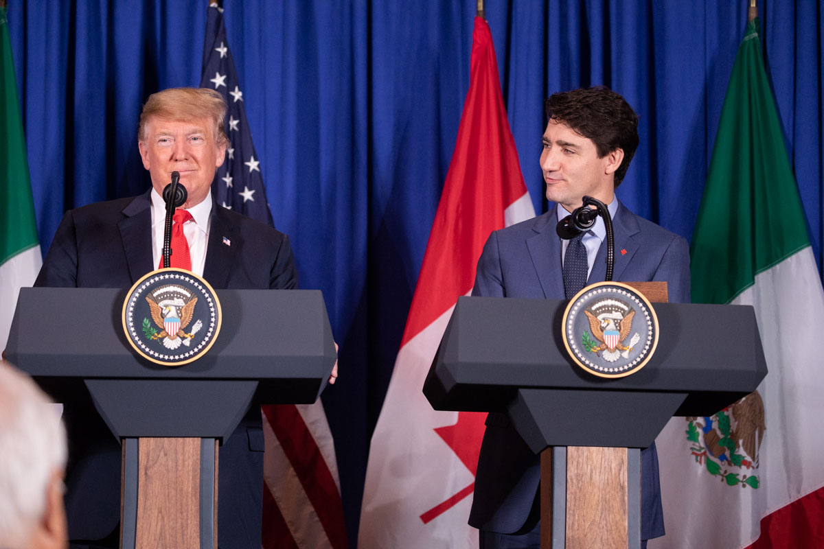 President Donald J. Trump and Canadian Prime Minister Justin Trudeau