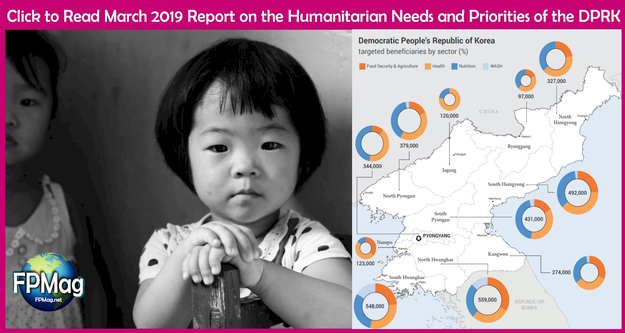 A reminder of the humanitarian needs and priorities of the DPRK.