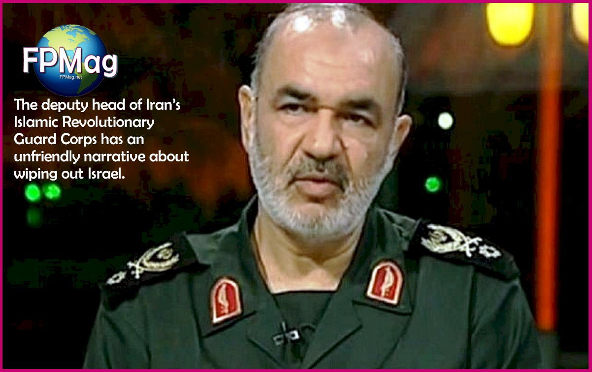 "The deputy head of Iran's Islamic Revolutionary Guard Corps said Monday that Tehran's strategy was to eventually wipe Israel off the ""global political map."""