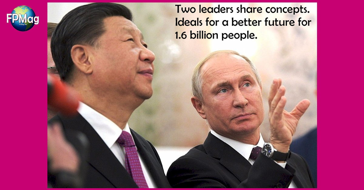 Xi Jinping and Vladimir Putin - Sharing a vision for a better future enabled by mutual cooperation.