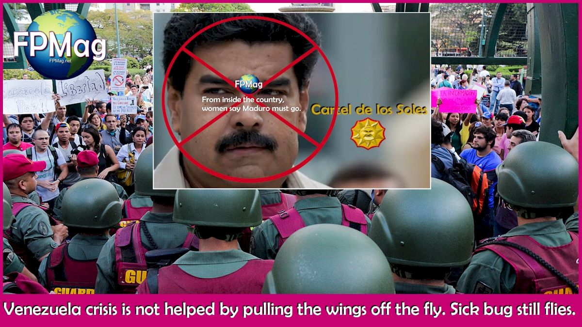 Venezuela crisis is not helped by pulling the wings off the fly. Sick bug still flies.