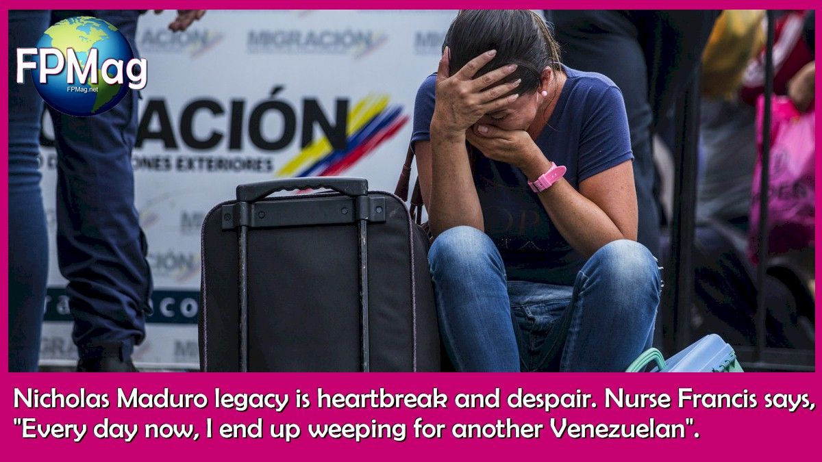 """Nicholas Maduro legacy is heartbreak and despair. Nurse Francis says, """"Every day now, I end up weeping for another Venezuelan"""". Photo Credit: UNHCR/Vincent Tremeau"""