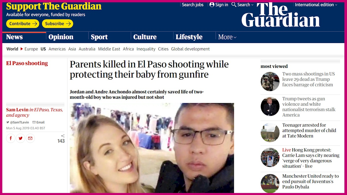 The story cannot be better told than what you read in The Guardian. It is heartbreaking truth not just about a family but about America and maybe the world.
