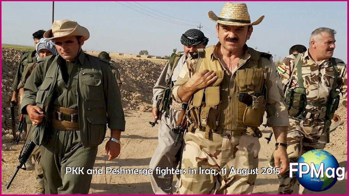 PKK and Peshmerga fighters in Iraq, 11 August 2015