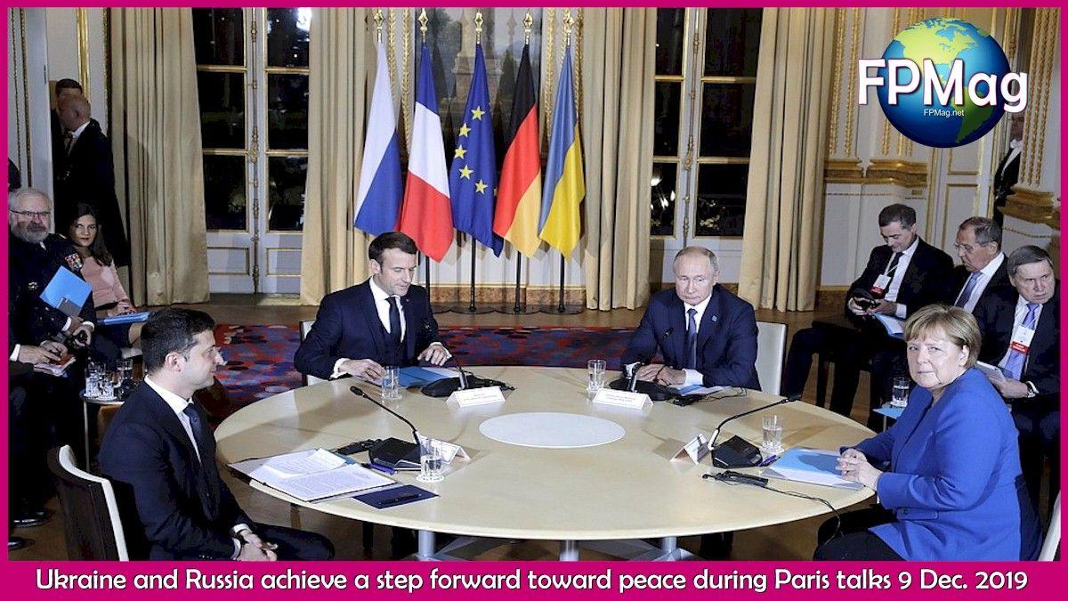 Ukraine and Russia achieve a step forward toward peace during Paris talks 9 Dec. 2019