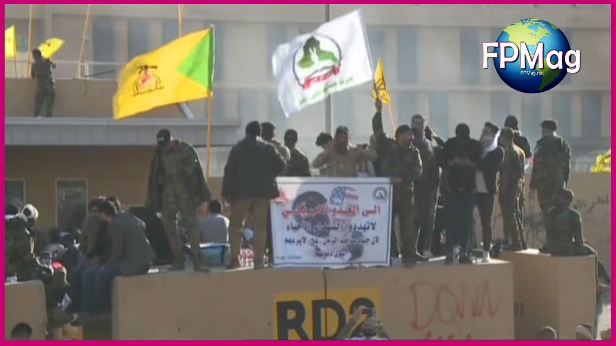 It was calmer at the embassy than it has been at the main Iraqi government buildings during recent protests and riots.