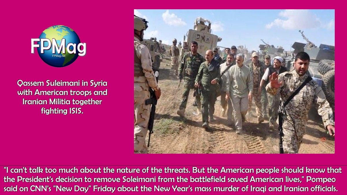 Qassem Suleimani in Syria with American troops and Iranian Militia together fighting ISIS.
