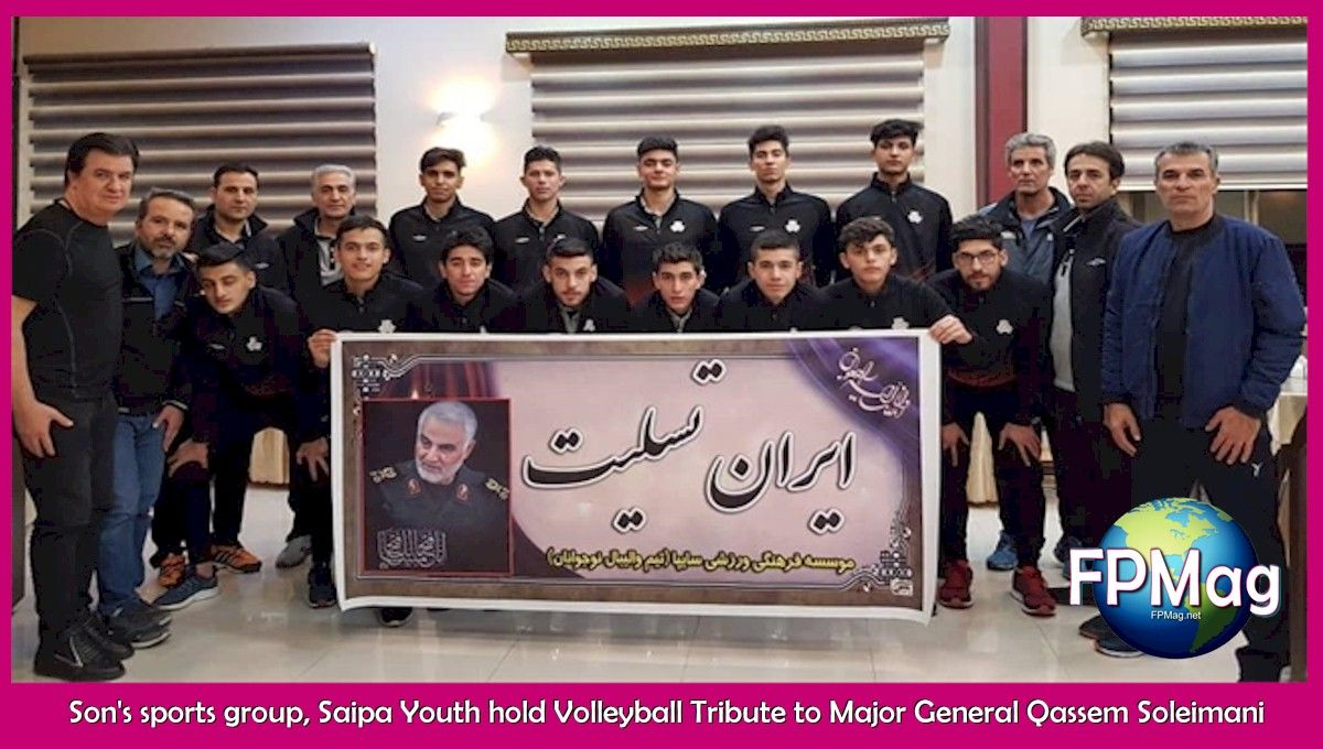 Son's sports group, Saipa Youth hold Volleyball Tribute to Major General Qassem Soleimani