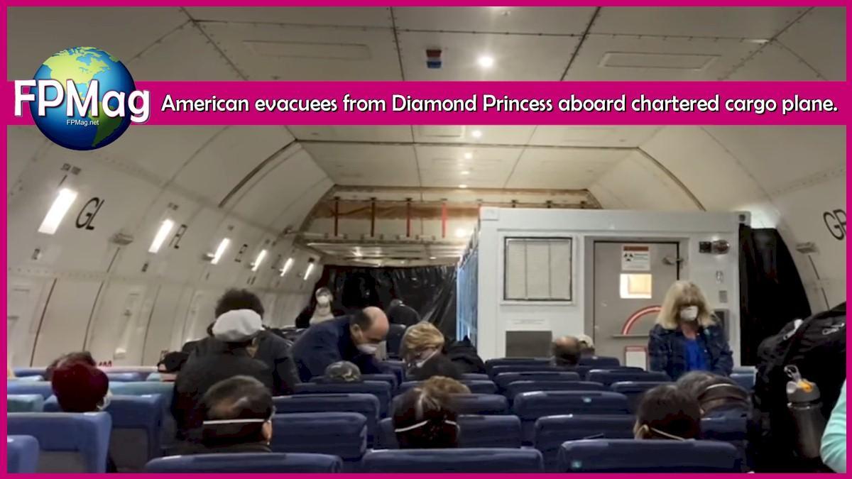 American evacuees from Diamond Princess bused to cargo planes.