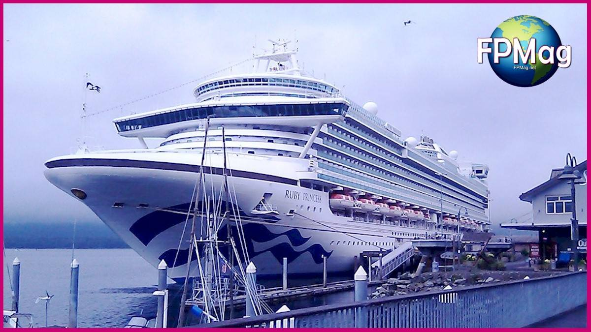 Ruby Princess docked in Ketchikan, Alaska during a 7-day Alaska cruise in August 2019